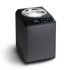 Springlane Eismaschine Erika Kompressor 2,5 l Edelstahl Joghurt Eiscreme Frozen