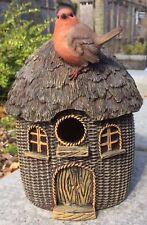 Birdbox Wicker With Robin Vivid Arts Indoor Outdoor Garden Ornament £18.99