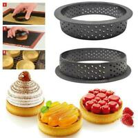DIY Dessert Bakeware Cutter Round Cake Mold Mousse Tart Ring Perforated 5 Style