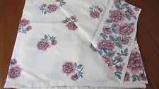 LAURA ASHLEY PINK FLORAL FULL SIZE FLAT SHEET, CHEVELEY