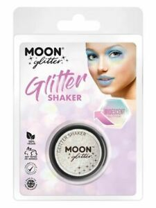 Moon Glitter Iridescent Glitter Shakers, White Facepaint/Party Makeup