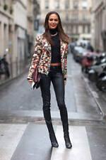 Rag & Bone Black Coated Leather Skinny zip Jeans Style W15220163 sz 24 25 26