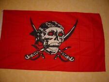 Fahne Flaggen PIRAT ROT MIT SÄBEL / 150x90cm TDShop24