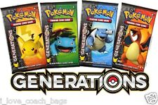 Lot of 4 X Generations Booster Packs Boosters *Unsearched* Sealed Pokemon