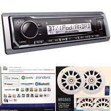 Kenwood KMR-M322BT Marine Digital Media Receiver + Boss MRGB65 200W Speakers