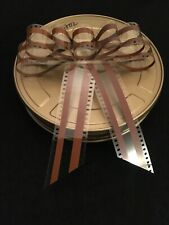 """(3) Gift Bow Made From 35mm Movie Film Brown Stripe 7""""x7"""" KODAK Gift W New Touch"""