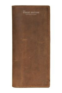 Men's Vintage Leather Long Wallet RFID Protected Large Card Holder Coat Wallets