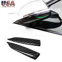2x Universal Carbon Fiber Car Rearview Mirror Trim Side Mirror Protector Guard