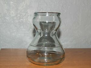 Vintage Hourglass Vase Light, Pale Green Hyacinth Bulb Forcing Starter VASE EEC