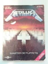 METALLICA - Master of Puppets - GUITAR SONGBOOK 1988 guitar / vocal / tabulature