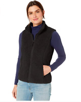 Amazon Essentials Women's Polar Fleece Lined Sherpa Vest, Black, X-Large FS!