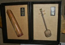 Vtg 2 Musical Wood String Instruments Shamisen Koto Sanxion Zheng Asian Japan Ch