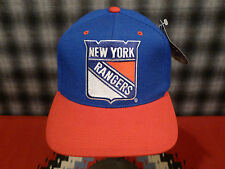 NEW YORK RANGERS BIG LOGO NWT 90s HAT CAP VINTAGE SNAPBACK THE GAME CLASSIC WOOL