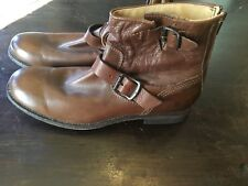 New Mens Frye Short Brown Leather Boots Shoes 9 1/2