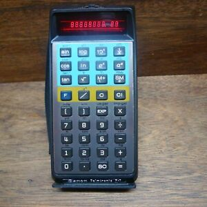 CANON PALMTRONIC F-7 RARE CONVERSION/SCIENTIFIC CALCULATOR WORKS PERFECTLY