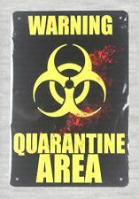 Uns Verkäufer-Metall Kunst Arbeit Warnung Quarantänebereich Tin Metal Sign