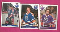 1985-86 OPC OILERS GRANT FUHR + ANDY MOOG + MARK MESSIER  CARD (INV# C6835)