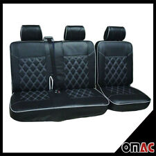 DIMOND Kunstleder Schonbezüge Sitzbezug Sitzbezüge VW T4 (schwarz-weiß ) 2+1