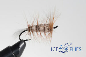 ICE FLIES. Bomber. Brown (3-pack) Pick a size. Fly Fishing Fly