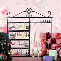 48 Hole Metal Earrings Ear Stud Display Show Jewelry Rack Stand Organizer Holder