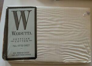 Wamsutta 250Thread-Count 100% Egyptian Cotton Full fitted sheet NIP