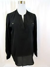 Mossimo Black Polyester Pull Over Top Size M