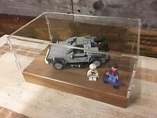 Deluxe Hardwood & Clear Acrylic Display Case for LEGO Back To The Future
