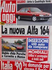 Auto OGGI n°184 1990 La nuova Alfa Romeo 164 - Diablo vs Porsche  [Q200]