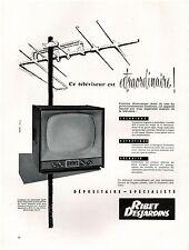 ▬► PUBLICITE ADVERTISING AD Télévision Téléviseur RIBET DESJARDINS 1958