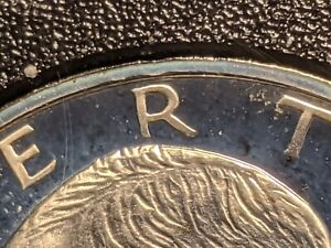 """FS-401 Peg Leg""""R"""" 1971-S Pr DDO-002/DDR-001 Eisenhower Silver Dollar"""