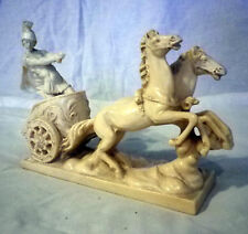 Classical Antique Style Sculpture A. Santini Roman Charioteer Italy