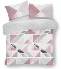 Gaveno Cavailia Mila Triangles Marble Stripes - Blush Pink & Grey, Size King