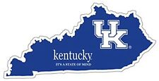 "KENTUCKY WILDCATS Sticker 4"" STATE UK LOGO premium Vinyl Decal Car Truck Etc."