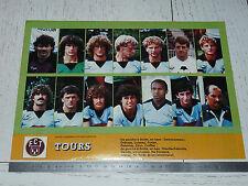CLIPPING POSTER FOOTBALL 1984-1985 FC TOURS STADE-DE-LA-VALLEE-DU-CHER