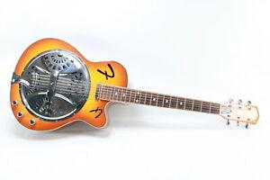 Fender - FR50CE - Cutaway Acoustic/Electric Resonator Guitar - Road Runner Case