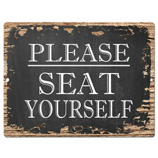 PP4219 Please SEAT YOURSELF Sign Rustic Parking Plate Home Restaurant Cafe Decor