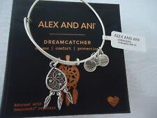 Alex and Ani DREAMCATCHER Rafaelian Silver Charm Bangle New W/Tag Card & Box