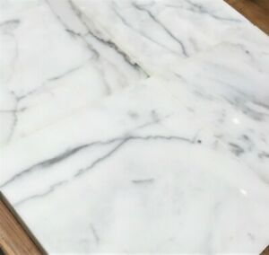 Calacatta 6x6 Polished Marble Wall and Floor Tile Backsplash (Sold by piece)