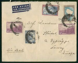 MayfairStamps Argentina to Norway Air Mail 1938 Cover wwp62317