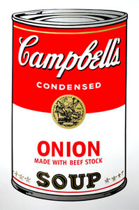 ANDY WARHOL Pop Art - Sunday B Morning - Campbell's Soup Can Onion + COA