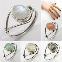 925 Silver Handmade Ring ! Rainbow Moonstone Size 5 6 7 8 9 10 11 12 Gem Options