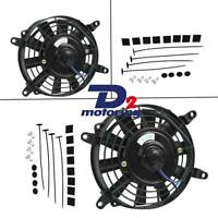 """7"""" inch 12V volt Electric Cooling Fan Thermo Fan +Mounting kits High Per"""