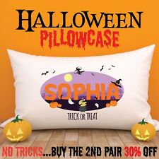 PERSONALISED Halloween Cushion Cover Pillow Case Kids Gift for Girls and Boys