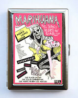 Vintage Marijuana Spanish Poster Cigarette Case Wallet Business Card Holder