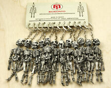 12x Skeleton Keychain Keyring Set Made In Greece Vintage New Old Stock