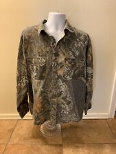 Mossy Oak Camouflage Shirt Men XL Button Down Long Sleeve Hunting Outdoors