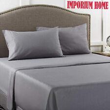 Luxury 100% Pure Poly Cotton Flat Sheet 200TC King Size Fine Polyester Washable