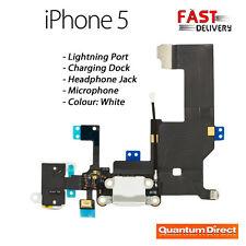 * nouveau * iphone 5 remplacement lightning port/dock de chargement + prise jack pour casque-blanc