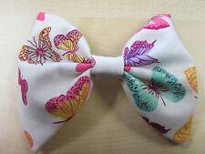 Butterfly Print Bow Tie On Elastic Fancy Dress Clown Fun