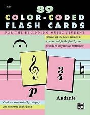 NEW Complete Color Coded Flash Cards for All Beginning Music Students